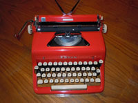 One of Our Antique Typewriters in Staten Island - Red